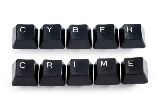 Image of keyboard letters spelling cybercrime